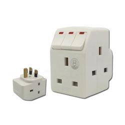 13Un Viaje Adaptador con tres interruptores y fusibles adaptador universal