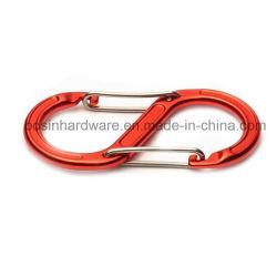 Aluminium Métal forme S sur le fil Porte mousqueton mousqueton