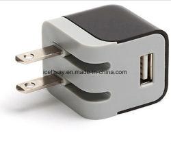 spina pieghevole dell'adattatore di potere del caricatore della parete del USB di 5V 1A
