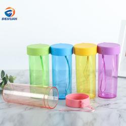 Récipient en plastique du tube de cylindre du vérin d'emballage cadeau de la forme de bouteille d'emballage
