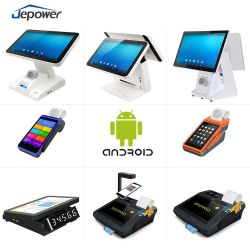 Tela de Toque duplo único Android Caixa Registradora Terminal de Pagamento Restaurante Supermercado Hotel Sistemas POS Varejo