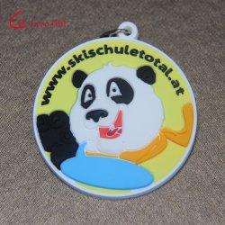 Custom оптовой 3D-ПВХ Panda цепочке для ключей