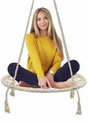 Corda de algodão cadeira de balanço para pendurar as crianças brincam crianças Swing