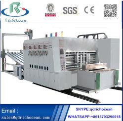 La impresión de múltiples colores cartón corrugado Máquina de troquelado de asignación de fechas