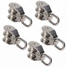 Aço ou ligas de zinco Polia Twin Giratório Polias Duplas