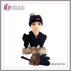 Yiwu Factory New Arrival Custom Strickhosen und Schal Lustige Gestrickte Wintersets