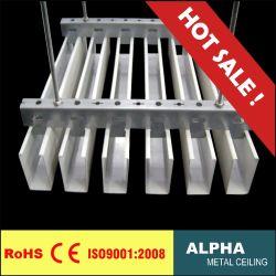 アルミニウム金属Uの形のバッフルの天井