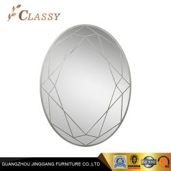Espejo decorativo de Reptiles Oval de plata y marco dorado espejo mueble de pared