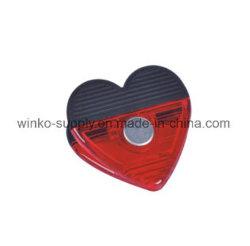 De hete Verkopende Paperclip van de Vorm van het Hart Magnetische Plastic voor Promotie