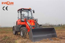 Everun New Articulated Mini Wheel Loader 1.6 Ton Construction Machine mit Standard Bucket