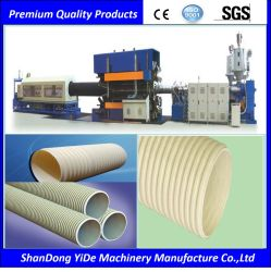 En PVC/PE paroi simple et double tuyau ondulé de décisions de la machinerie