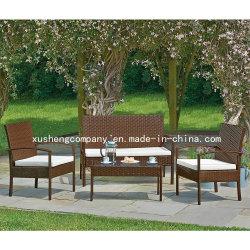 Sofà di vimini del rattan del patio 4PC del sofà del PE stabilito esterno della mobilia