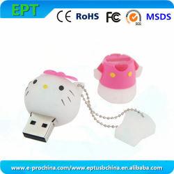 Cute Hello Kitty форма Настройки PVC флэш-накопитель USB (EP284)
