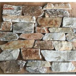 Couper à la taille de pierre lâche de placages de brique marron