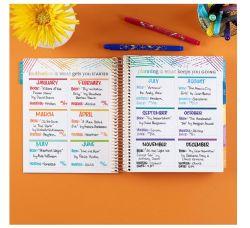 Easypag Cuaderno de espiral, sin perjuicio de la etiqueta de colores