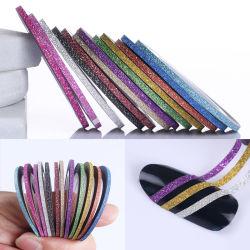 2mm Matte glitter ongle striping de ligne de bandes Rainbow outil Multi Color Styling sticker autocollant