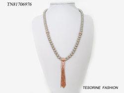 Neue Ankunfts-Form-populäre Perlen-lange Troddel-Kupferlegierung mit Glashalskette