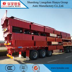 La pared lateral Tri-Axles/Drop de camión de carga lateral de la utilidad de remolque remolque semi