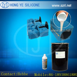 Líquido de platina em borracha de silicone RTV para fazer moldes de resina, Fundição de poliuretano