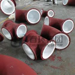 En PTFE en plastique moulé en acier au carbone bordée du raccord de tuyau en acier recouvert de
