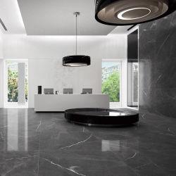 Venda por grosso de banho personalizados azulejos cinza polidos porcelana vidrada Azulejos do piso de mosaico