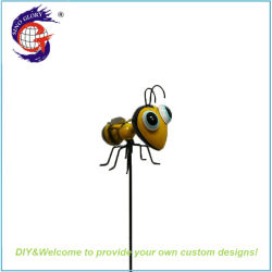 Sino Glory Hot Selling Cheap Metal Iron Bee Decor Kids Garden Stake
