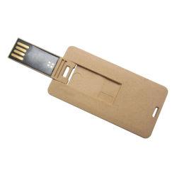 De milieuvriendelijke Slanke Aandrijving van de Flits van de Creditcard USB van het Karton van de Stok van het Document USB Document Gerecycleerde 16GB