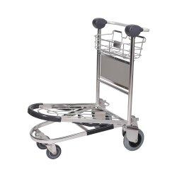 Equipaje de pasajeros del aeropuerto de la cesta Carro de equipajes con freno