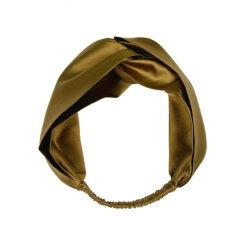 Impressão Digital Customized Golden Classic Lady Seda Banda de cabeça de Finalização