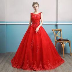 製造業者の卸し売り女性Red Bridal Dressウェディングドレス