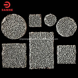 Квадратные формы из карбида кремния Honeycomb пористая пена керамический фильтр для литой детали