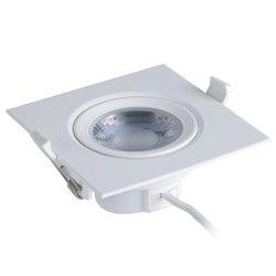 Тонкие Тонкие квадратные внутри лампы из алюминия PC Ce Интегрированный 9W/ 12W встраиваемый светодиодный индикатор для встраиваемых систем набегающей набегающей панели