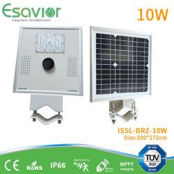 Faible consommation énergétique haute luminosité 10W intégré toutes dans un conduit de la route de plein air lumières solaires Rue lumière solaire