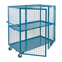 Carrito apilable Roll Cage personalizadas Carrito de malla de alambre de metal