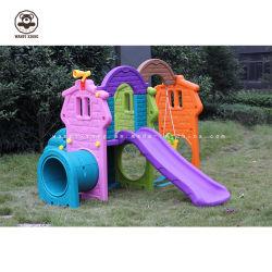 Горячие продажи дешевой цене сейф маленький крытый детский пластиковый слайды, поворотного механизма