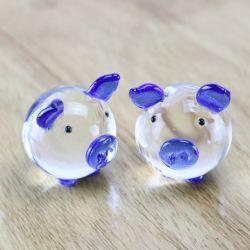 Preiswerte nette Kristallglas-Tier-vorbildliches Schwein für Geburtstag-Geschenk/Hauptdekoration