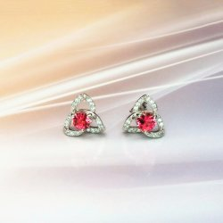 Мода украшения Lab драгоценных камней 925 серебристые Earring с Garnet/Citrine/Аметист