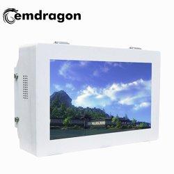 شاشة فيديو ODM Ad مقاس 21.5 بوصة شاشة أفقية مبردة بالهواء معلقة على الحائط إعلانات في الهواء الطلق آلة إعلانات جديدة حامل إعلانات في الهواء الطلق حامل تثبيت LCD Video Displayer