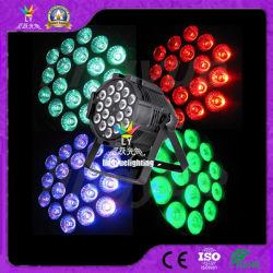 La PARITÀ dell'interno di illuminazione LED della fase di 18X18W RGBWA+UV DMX può