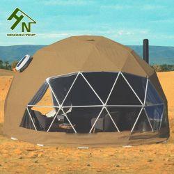 6 m de tecido de PVC Glamping Caqui tenda tenda de Campismo Geodésico do Teto