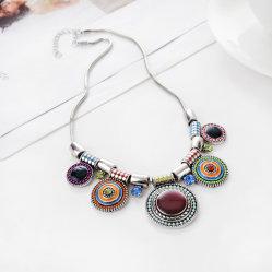 패션 여성용 레트로 목걸이용 전통 풍속 펜던트 알로이 기프트