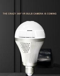 Panoramique à 360 Vr 960P 1080P 3MP caméra IP HD Smart Voyants Cam Starlight Accueil de l'ampoule de vision de nuit caméra de sécurité
