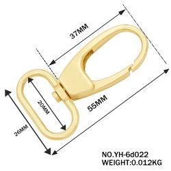 Matériel de la mode nouvelle Gold Bandoulière Mousqueton en métal de boucle