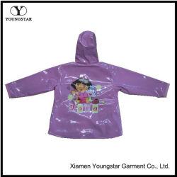 아이를 위한 최고 인쇄된 여자 아기 비옷 만화 PVC 비 기어