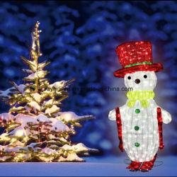 Vacances de Noël Bonhomme de neige de lumière LED de décoration Motif Décoration extérieure
