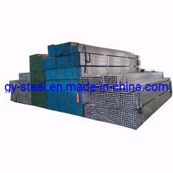 30g 40 g 50 g 60 g d'acier de zinc ! Gi rectangulaire en métal tube carré de fer de tube / Fer noir carré galvanisé section creuse