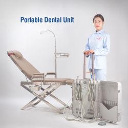 Instrumento Dental Cuidado dental unidad odontológica móvil / Portátil unidad dental con ultrasonidos escalador