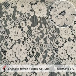 Для вязания цветочного нейлон хлопок шнур кружевной ткани свадебные платья кружева (M3462-G)