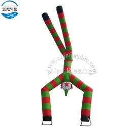 As duas pernas que arvoram insufláveis rapazes ar publicidade dançando o homem para eventos