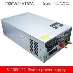 4000 Вт постоянного тока регулируемого напряжения питания постоянного тока 24 В выходной одной группы мониторинга промышленных блок питания S-4000-24V